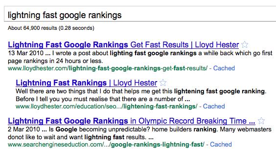 fast google rankings