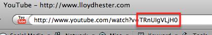 You Tube video code