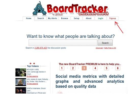 boardtracker search