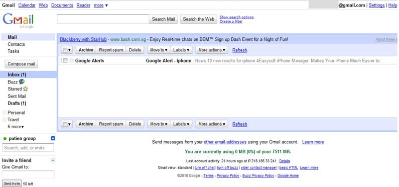 google gmail alert