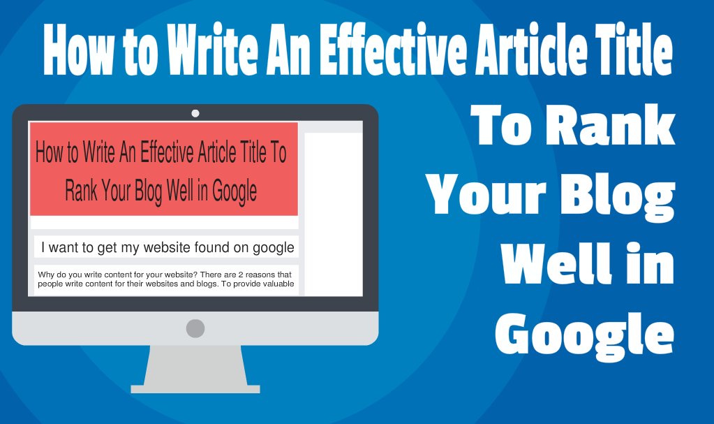 How To write an Article Title